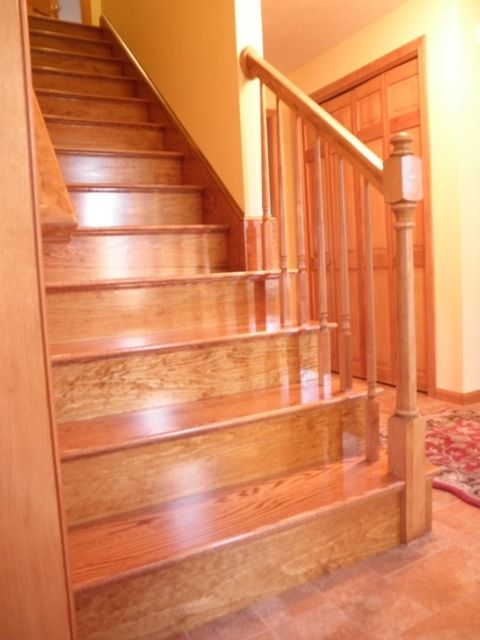 Custom Made Red Oak Stairs by Broughton Woodworks  CustomMadecom