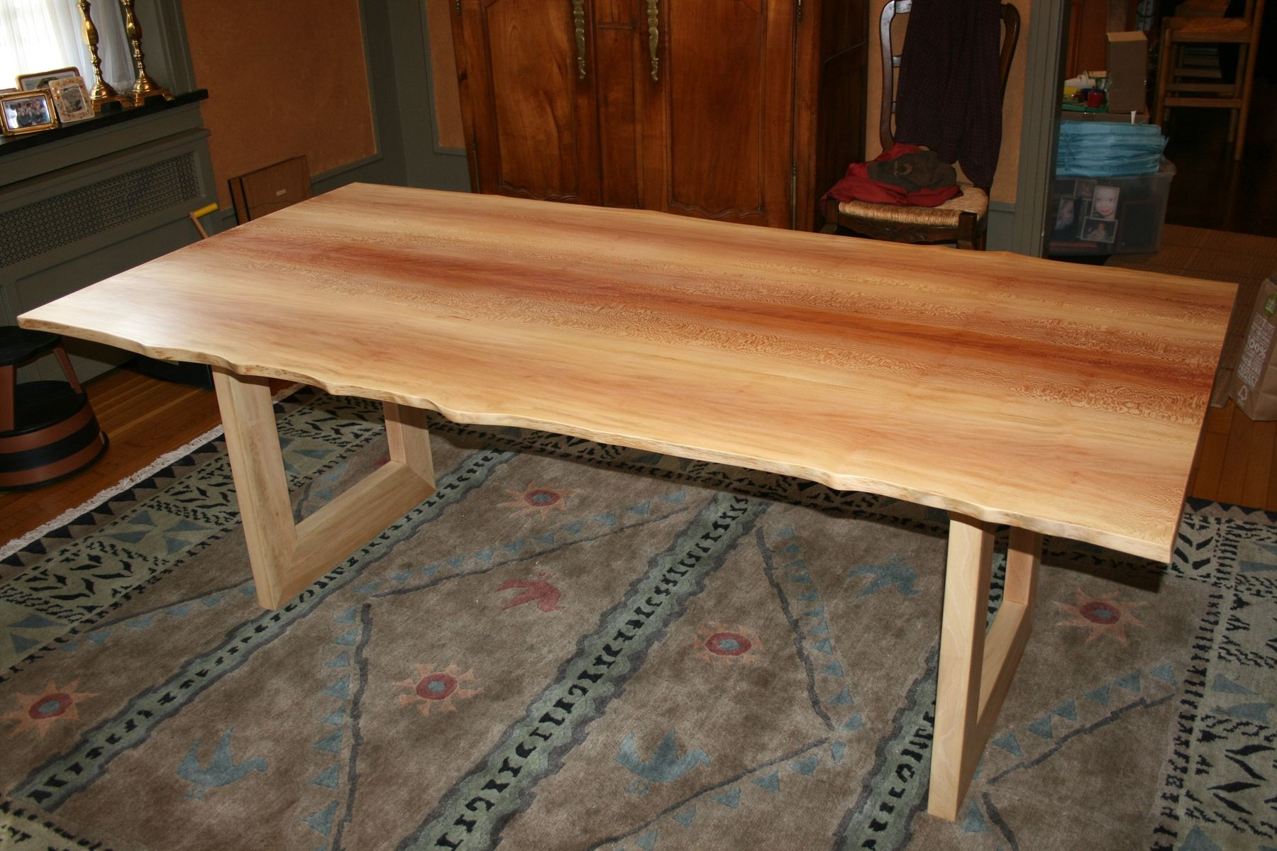 Custom Sycamore Dining Table Live Edge By Fredric Blum