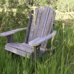 Adirondack Chair Wood Rainforest Vibrating Hand Made Rustic Barn Furniture By