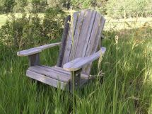 Hand Adirondack Chair Rustic Barn Wood Furniture
