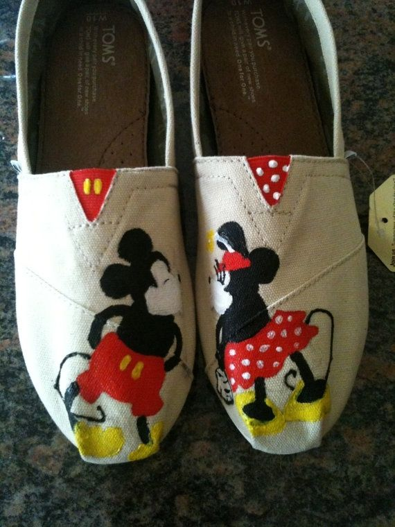 Hand Made Disney Toms by Dittmore Designs  CustomMadecom