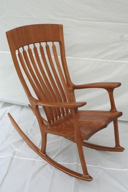 Handmade Cherry Rocking Chair by Wood In Motion