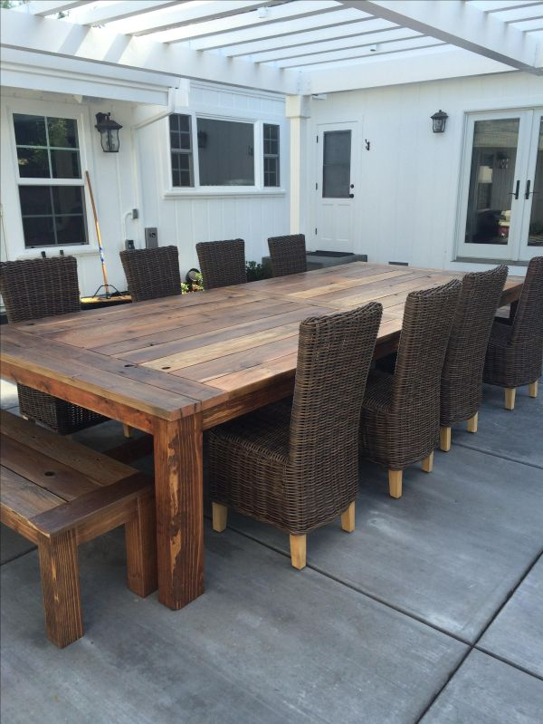 Handmade Reclaimed Wood Farm Table - Outdoor Indoor
