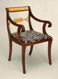 Custom Duncan Phyfe Arm-Chair by Marty Mackenzie Fine ...