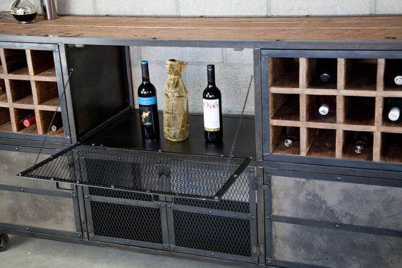Buy a Hand Made Liquor Cabinet  Bar Vintage Industrial