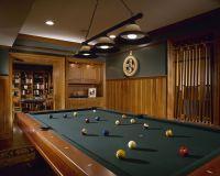 Custom Made Natural Mahogany Billiard Room by Culin ...