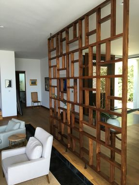 Handmade Solid Wood Geometric Room Screen Room Divider by Bugbee Wood Co  CustomMadecom