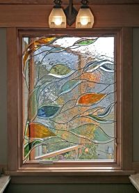 Handmade Stained Glass In A Bathroom Window by Isaac D ...