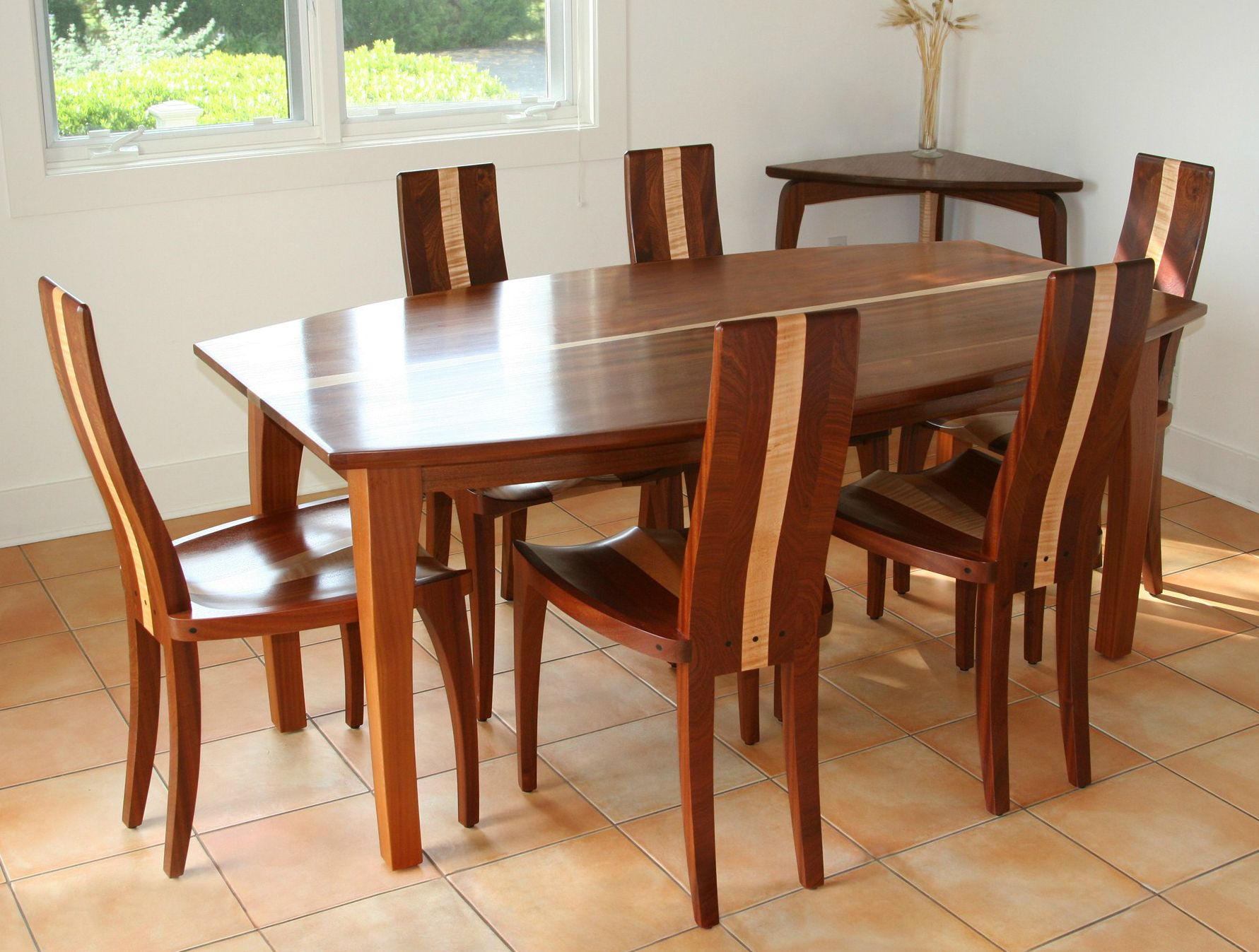 Buy a Hand Made Modern Wood Dining Table Solid Mahogany