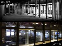 Hand Crafted Etched Glass Commercial Office Wall & Doors ...