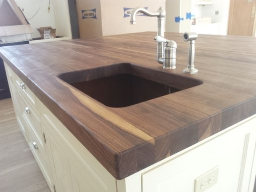 Handmade Thick Walnut Top For Kitchen Island by Kodama