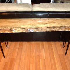 Custom Made Sofa Tables Grey Linen Sleeper Hand Table Live Edge Sugar Maple By Ozma Design
