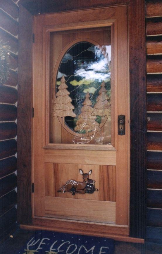 Handmade ScreenStorm Door Over Custom Entry Door by Christies Wood and Glass  CustomMadecom