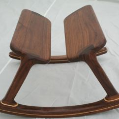 Childcare Glider Rocking Chair Ottoman Walnut Tot Tutors Table And Chairs Custom Footstool By Wood In Motion