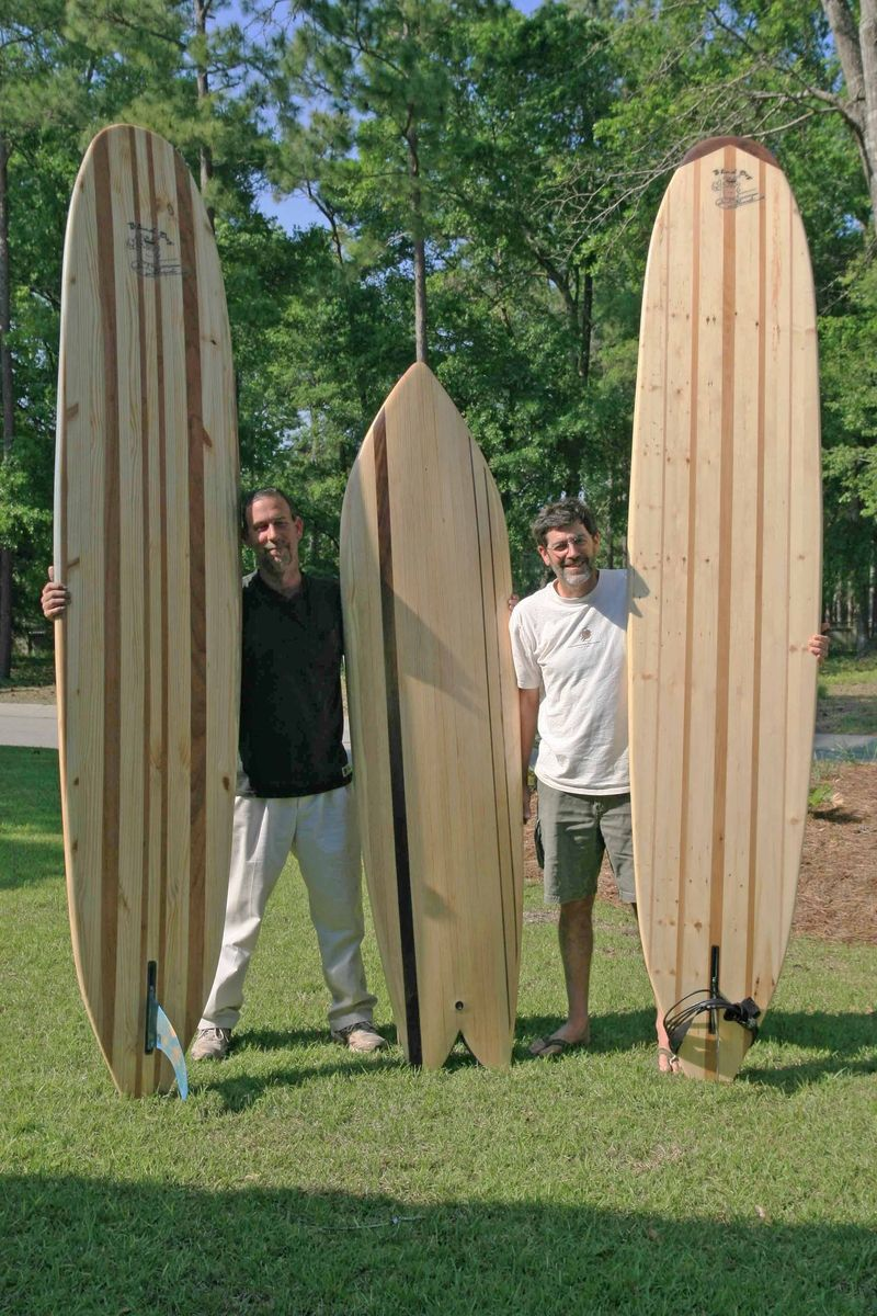 Hand Made Hollow Wooden Surfboard by Blind Dog Surf Boards