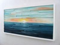 Buy a Hand Made Abstract Lanscape Painting - Wood Wall Art ...