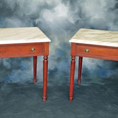 Custom Made Sofa Tables Mid Century Style Leather Sofas Marble Top End By Brendan Carpenter