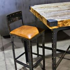 Pub Style Kitchen Table Islands For Small Kitchens Hand Made Industrial Height & Bar Stools By ...