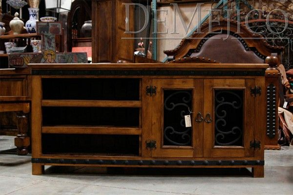 tv stand living room tufted chairs custom made alamo by demejico inc - manufactures ...