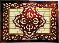 Custom Made Moroccan, Celtic Stained Glass Window by