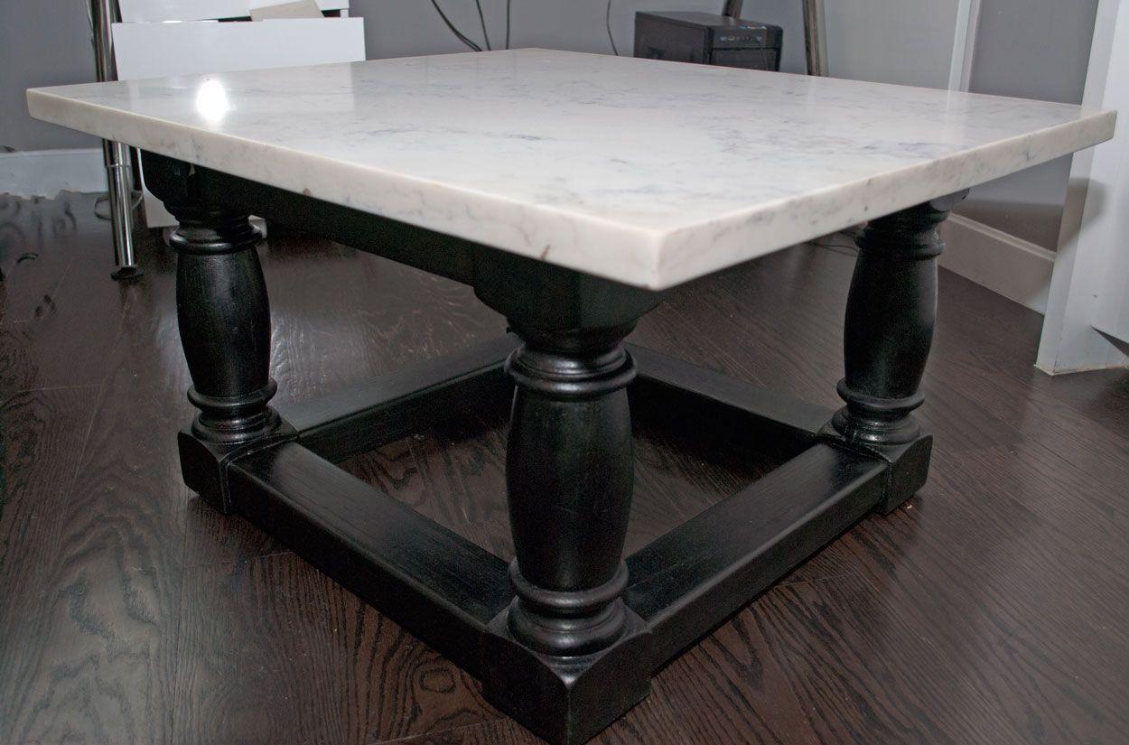 Buy Handmade Quartz Coffee Table With Ebony Base Made To Order From Vandalay Goc Shop Custommade Com