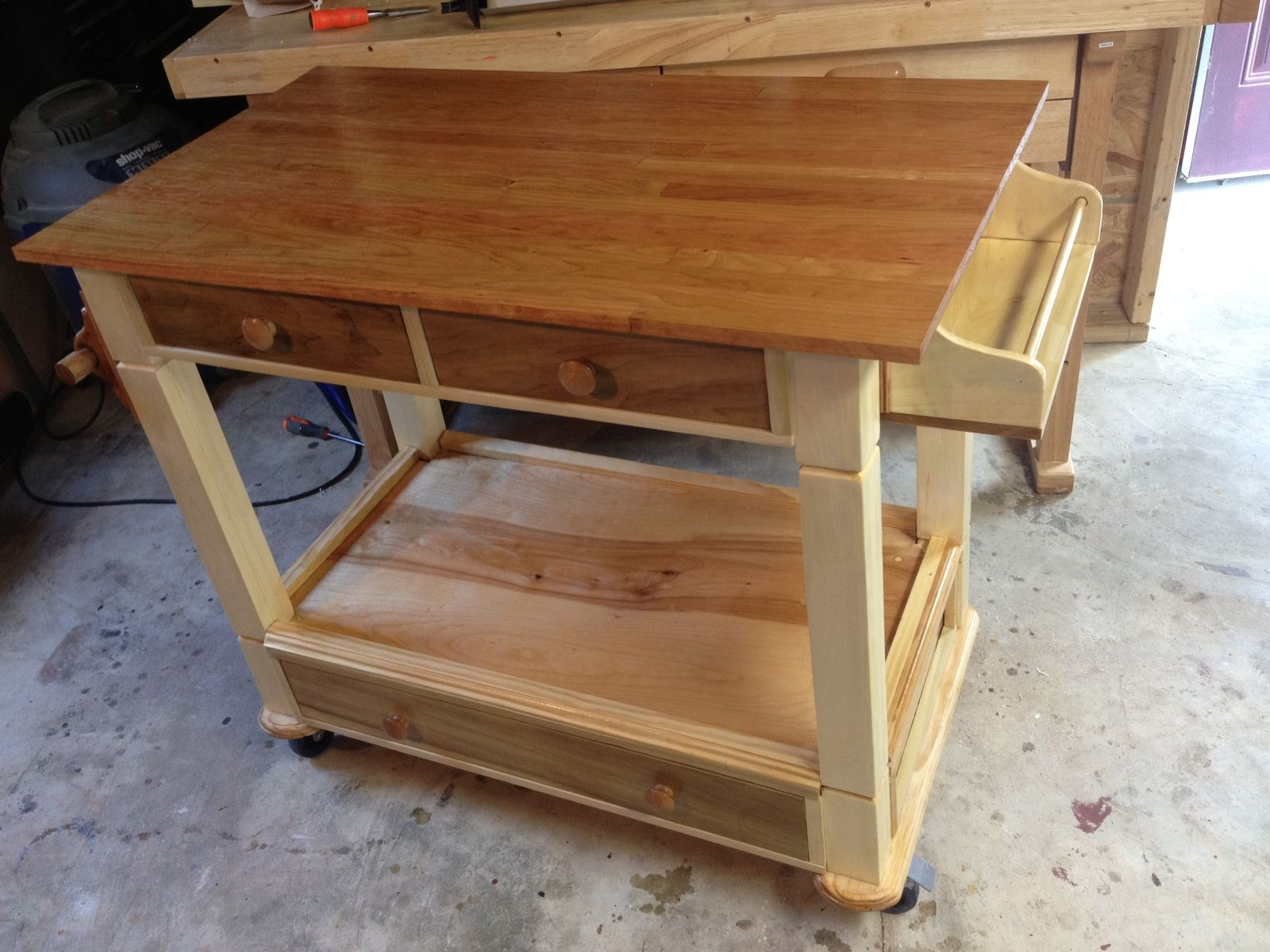 kitchen work station mixer reviews handmade workstation by all solid wood furniture custom made