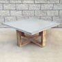 Buy A Hand Made Rustic Modern Reclaimed Wood And Cement