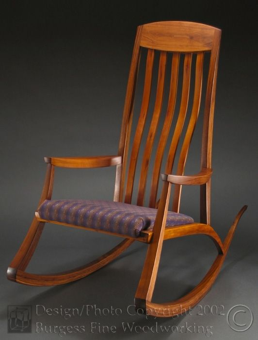 rocking chair fine woodworking the portable high hand crafted nursing by burgess