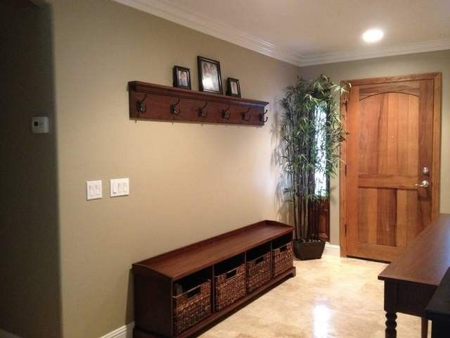 Hand Crafted Entry Bench And Coat Hook Shelf By Santini