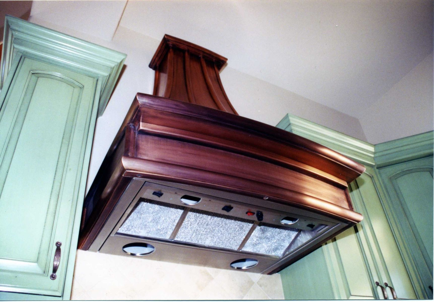 country kitchen range hoods drop in stainless steel sink hand made french copper by cabinets