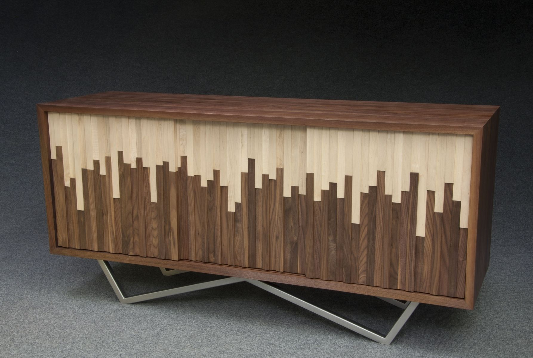 Handmade Wave Credenza by Modernist Woodworking and