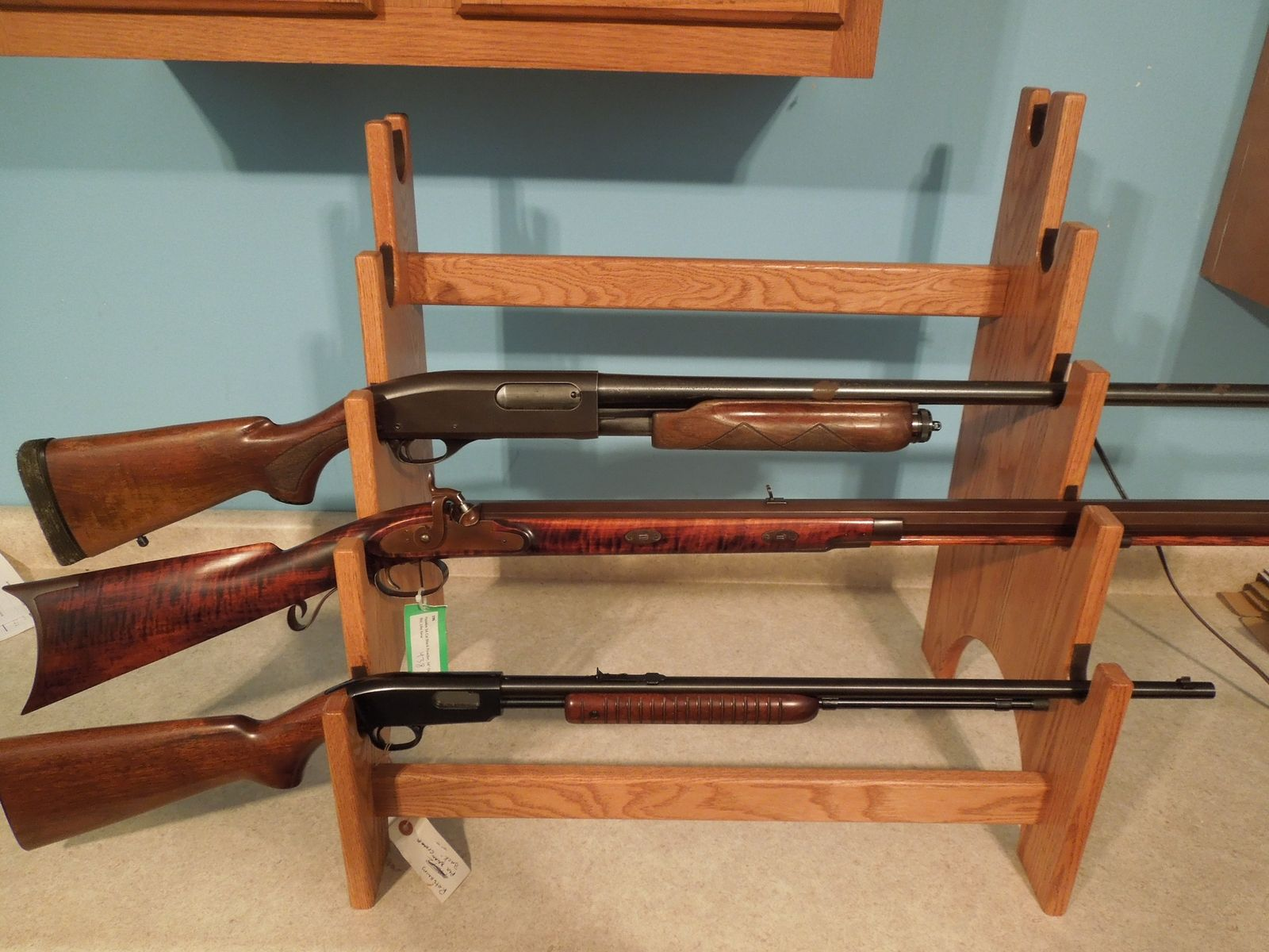 Buy a Hand Made 5 Gun Rack Display Unit, made to order