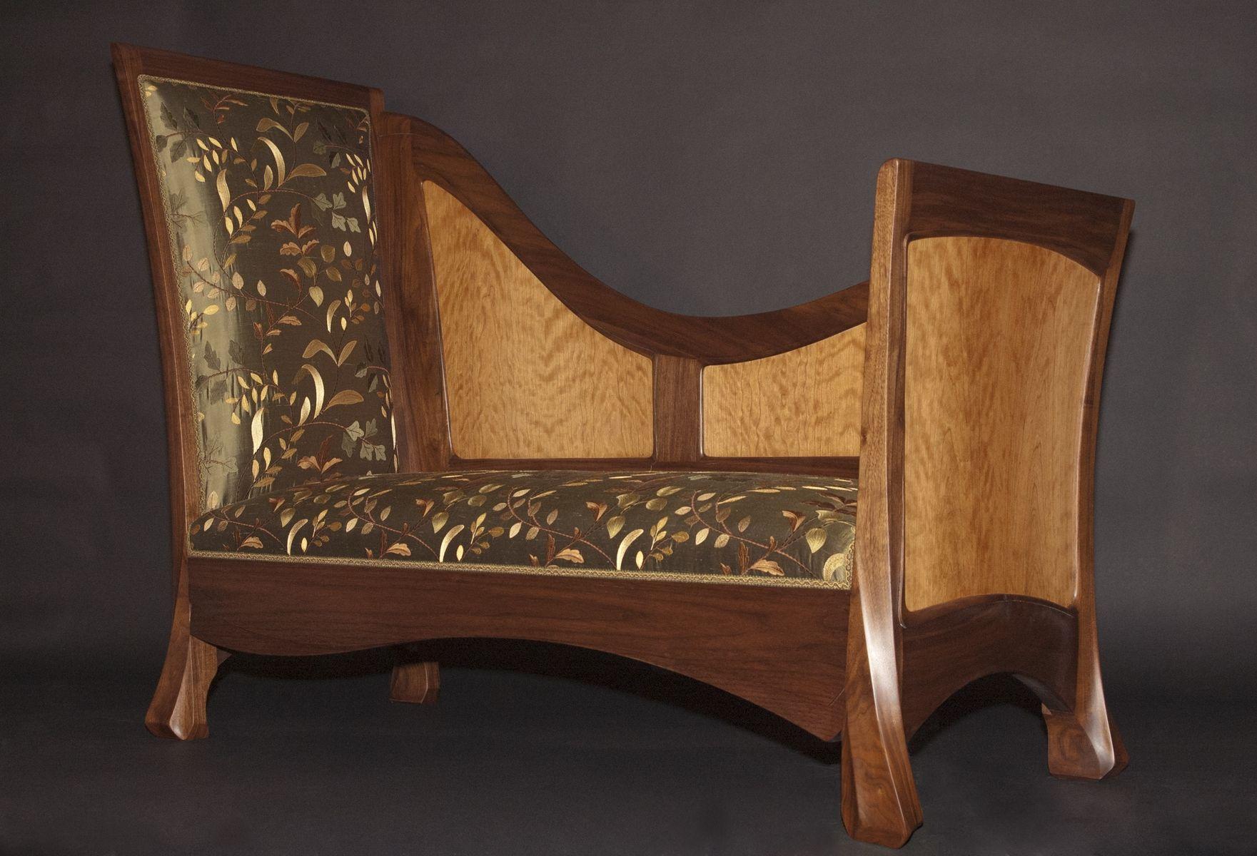 Custom Art Nouveau Window Bench By J Rivers Furniture