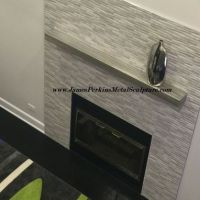 Buy a Custom Stainless Steel Fireplace Mantel, made to ...