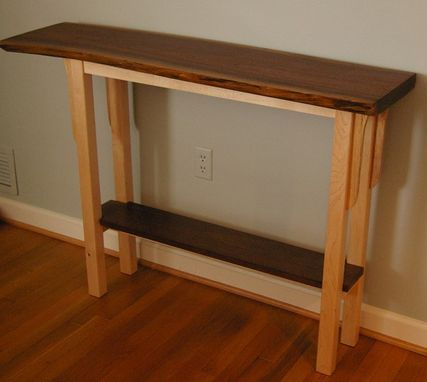 Custom Made Live Edge Walnut Console Table By Puffball Designs LLC