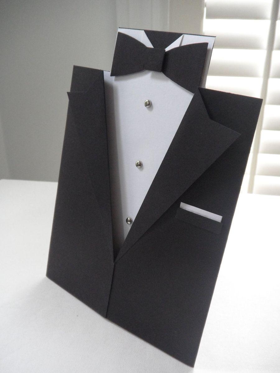 Handmade Tuxedo Greeting Card By Dear Betsy