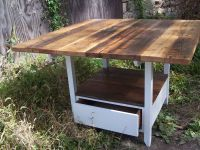 Buy a Handmade Reclaimed Wood Kitchen Table With Storage ...