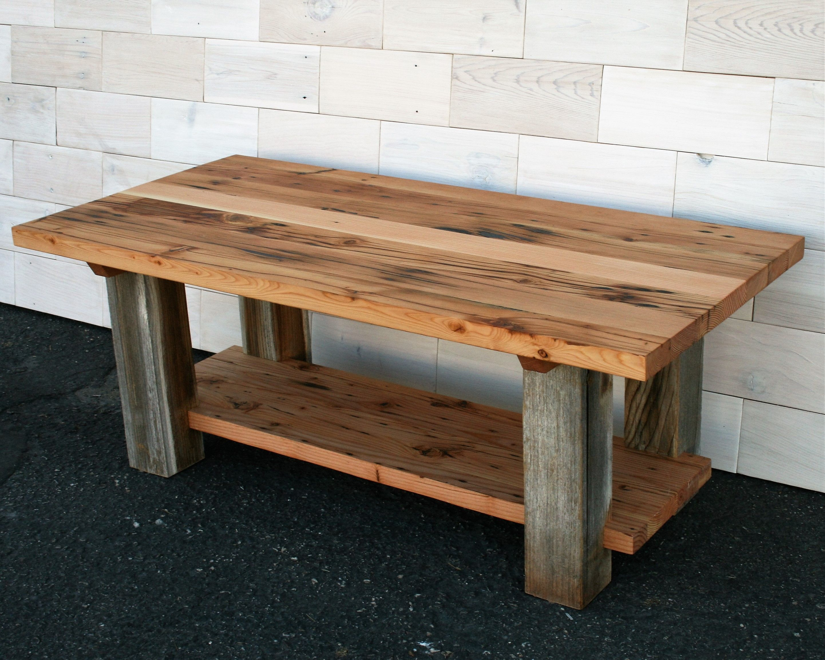 Hand Made Reclaimed Fir And Barn Wood Coffee Table By
