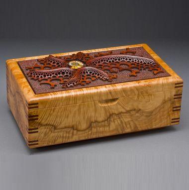 Hand Made Wood Jewelry Box Ammonite By Mark Doolittle