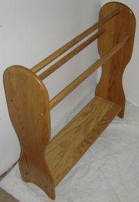 Custom New Solid Red Oak Wood Blanket | Quilt Rack Stand ...