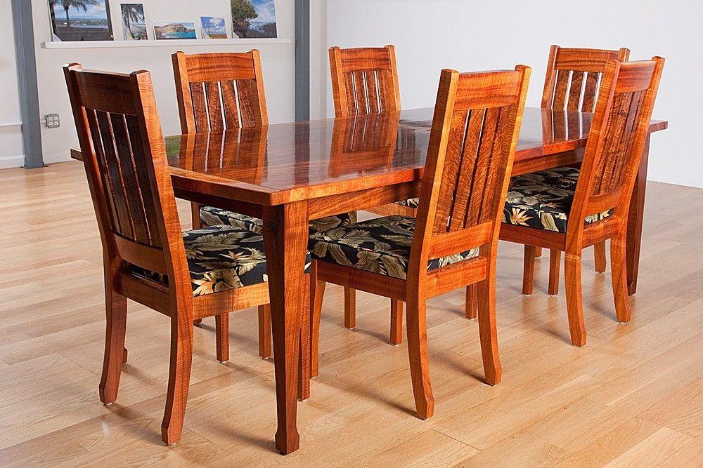 lucite acrylic chairs leather chair covers for sale custom hawaiian curly koa dining table and by keaau fine art   custommade.com