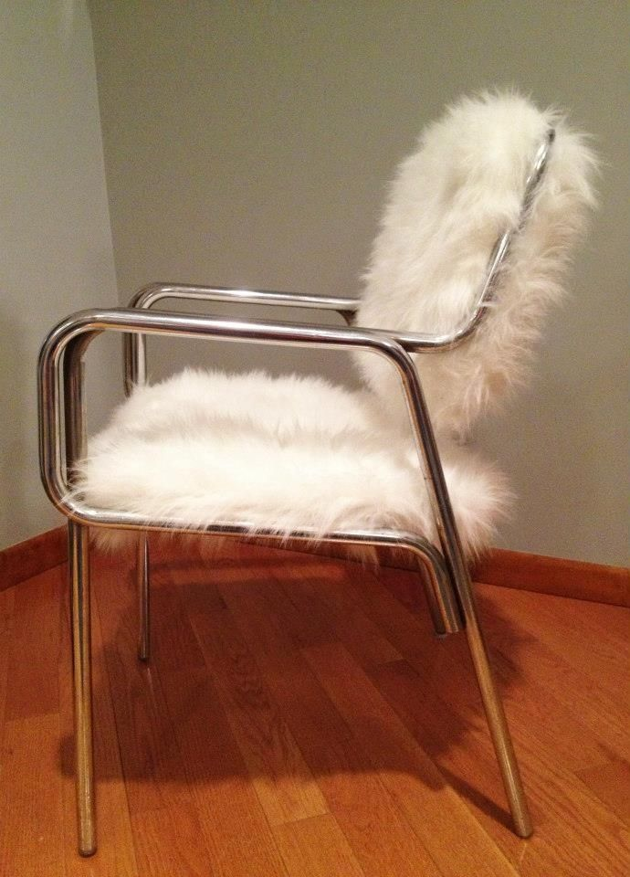 Custom Made Faux Fur Chair by REmix Design  CustomMadecom