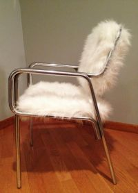 Custom Made Faux Fur Chair by REmix Design | CustomMade.com