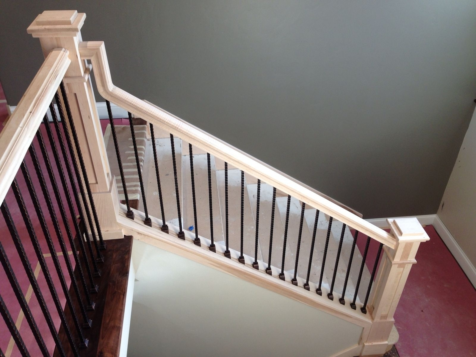 Hand Made Staircase 4 By Monarch Cabinetry Custommade Com | Craftsman Style Newel Post | Design | Staircase | Railing | Square | Interior