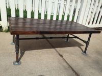 Hand Made Reclaimed Pine Tabel Top On Galvanized Pipe ...