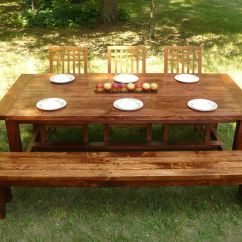 Farmhouse Table And Chairs With Bench Hanging Chair Frame Custom Made Style Dining By Minnesota