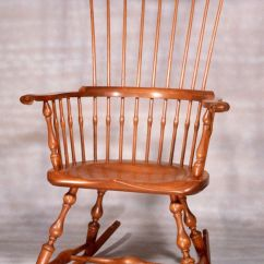 Rocking Chair And Cradle In One Table Chairs For Older Kids Custom Made Maine Windsor Comb Back By Stephen Adams