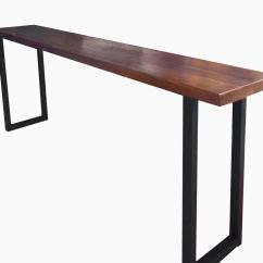 Long Sofa Bar Table Oregon Black Leather Buy A Custom Made Walnut And Steel Console To