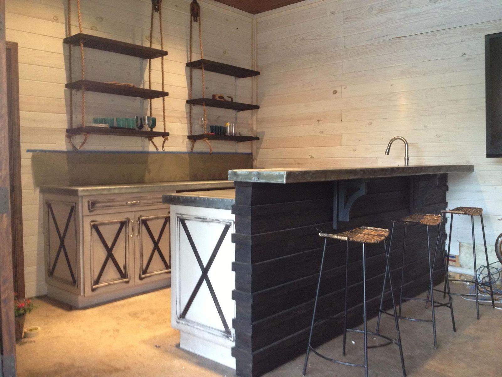 built in wine rack kitchen cabinets hood fans hand made custom zinc countertops by kidd ...