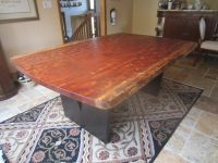 Handmade Live Edge Bubinga Slab Kitchen Table by ...